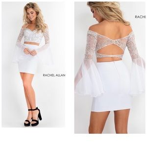 Rachel Allan short homecoming dress white